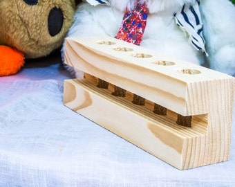 Test tube stand / Wooden Test Tube