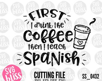 Coffee Teacher Svg Etsy