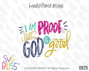 God is Good SVG, Baby, Kids, Miracle, Healing, NICU, Preemie, Blessed, Christian, Quote, Cutting File, Dxf, SVG Bliss Original Design