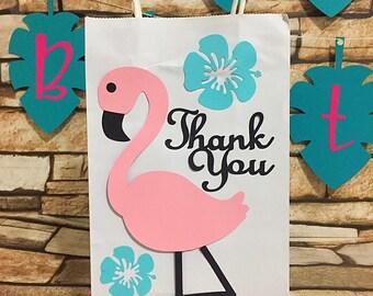 Flamingo Party Favor Bag, Flamingo Thank You Gift Bag, Flamingo Gift Bag