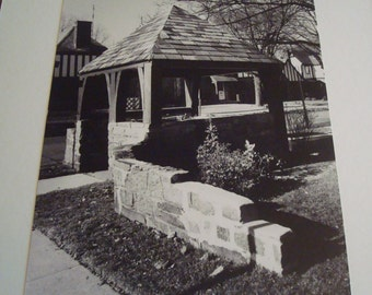 2 Prints Black and White photo 11x 14 of Home and Gazebo in Garden City NY in 1983  **SALE