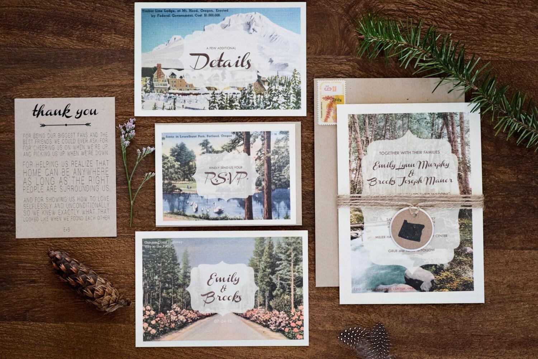 Wedding Invitations Portland Oregon: Rustic Portland Wedding Invitations