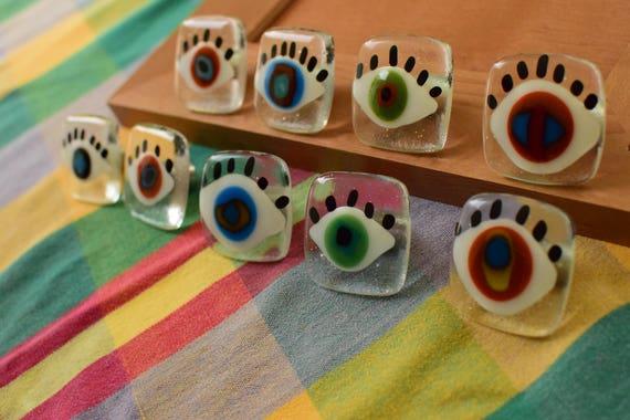 Wild Eyes Cabinet Knob Funky Colorful Knobs Eye Knobs Kids | Etsy