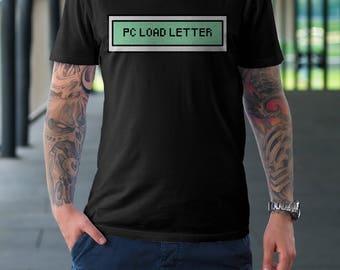 pc load letter mens t shirt