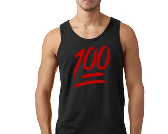 Men/'s Tank TOP Keep It Hundred Red Colored Street Hunnid 100 Music Emoji S-3XL