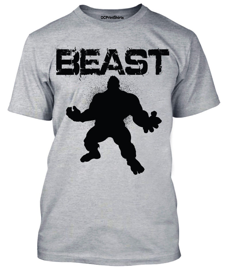 0ae27428e08206 Beast Mode Hulk Lifting Logo Men T-Shirt Gym Sport Athlete