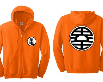 BOTH side Zip Hooded Z KAME Ball Dragon Symbol Adult Hooded Sweatshirts S-5XL