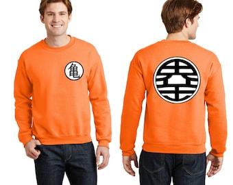 BOTH side CREWNECK Men Z KAME Ball Dragon Symbol Adult sweatshirts S-5XL