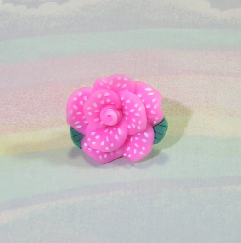 Decora Ring Rose Ring Sweet Lolita Ring Deco Lolita Ring image 0
