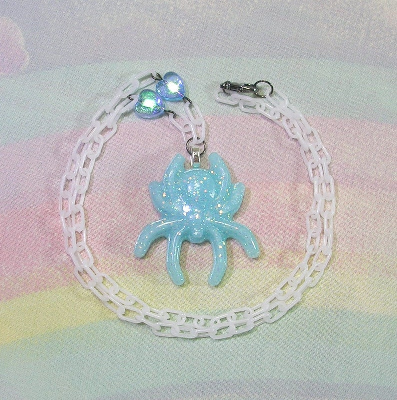 Spider Necklace Creepy Cute Necklace Pastel Goth Necklace image 0