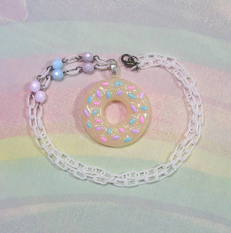 Sprinkle Doughnut Necklace Sweet Lolita Necklace Fairy Kei image 0