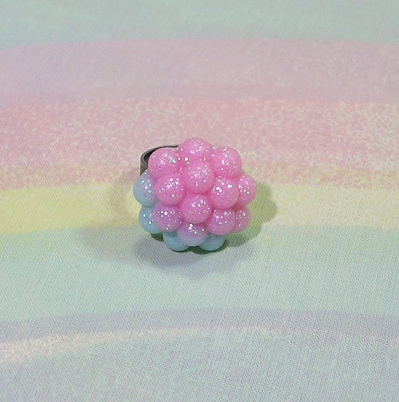 Fairy Kei Ring Mermaid Ring Seapunk Ring Pastel Goth Ring image 0