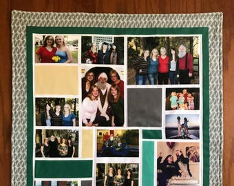 Cotton or Fleece Photo Quilt (Customized colors)