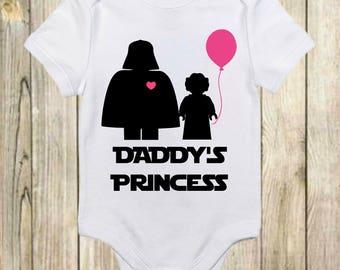 73d27fcf5 Daddy's Princess Star Wars Onesie®-Darth Vader-Daddy's Princess Shirt-Baby  Star Wars Gift-Star Wars Baby-Baby Shower Gift-Star Wars Onesie