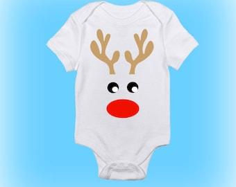 reindeer onesie christmas onesie cute christmas onesie christmas bodysuit christmas clothing baby girl baby boy baby clothing