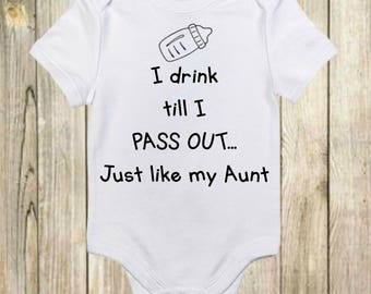 bfda03bafd56 Funny Onesies®- Funny Baby Onesies - I Drink Till I Pass Out Onesie - Cute Baby  Onesie - Baby Boy - Baby Girl -New Baby Gift-Funny Baby Gift