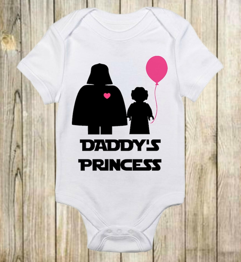 474bc6ae9 Daddy's Princess Star Wars Onesie®Darth Vader-Daddy's | Etsy