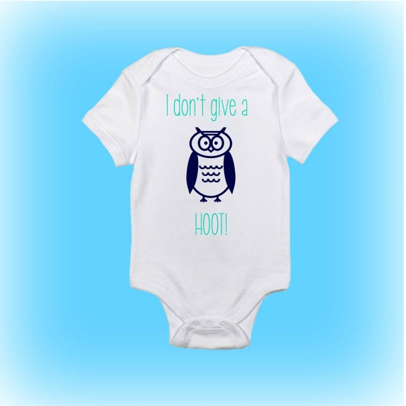 Owl Baby Onesieunique Baby Shower Gift I Dont Give A Etsy