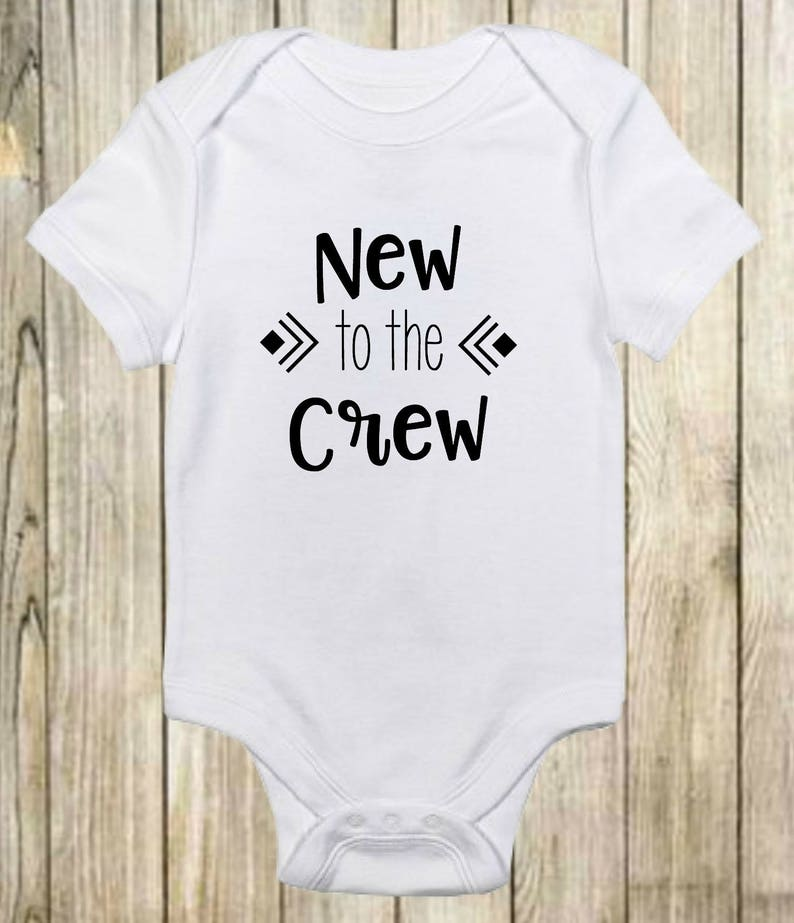 7ca7e4885 New To The Crew Onesie® Cute Baby Clothes Boys and Girls | Etsy