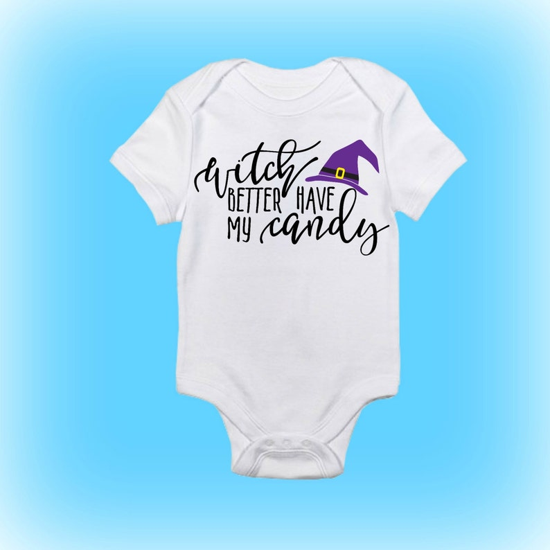 Babyu0027s First Halloween   Funny Halloween Onesie   Funny Onesie   Witch  Better Have My Candy   Baby Boy   Baby Girl Baby Clothing Baby Onesie