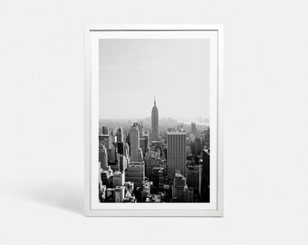 New York City print NYC art New York print New York art New York poster New York skyline art Black and white art print NYC skyline print art