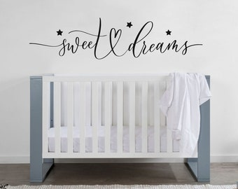 SWEET DREAMS LITTLE ONE INFANT WALL DECAL QUOTE WORDS LETTERING BABY NURSERY