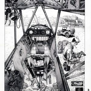 Luftfahrzeuge  Aviation  Aircraft /_ Fine Art Print/_Gicl\u00e9e-Druck/_Kunstdruck/_A4A3/_Vintage