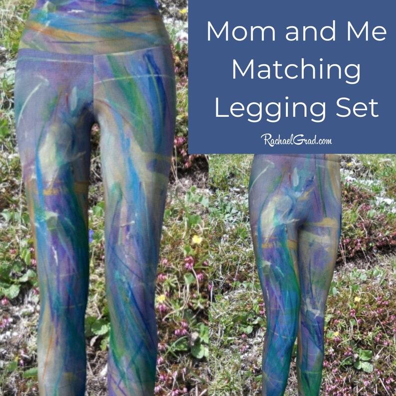 Teenage Girl Gift Tweens Girl Leggings Children leggings Girls Tights Blue Leggin Colorful Leggings for Kids Blue Purple Kids Leggings