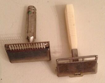 SALE*Razors-Shaving-Vintage Ever-Ready and Vintage Gem Razors Art Deco - Lot of 2