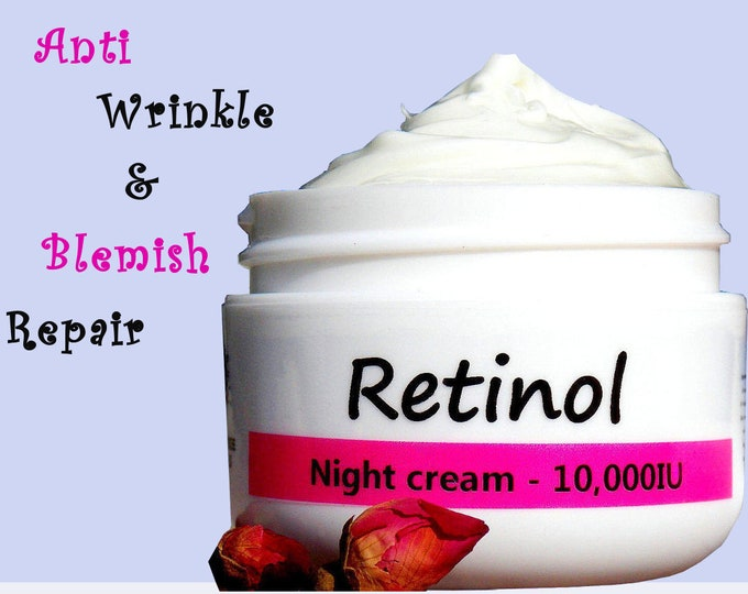 Featured listing image: with Retinyl Palmitate _ Anti Aging Wrinkle cream non GMO _ Natural Handmade SkinCare