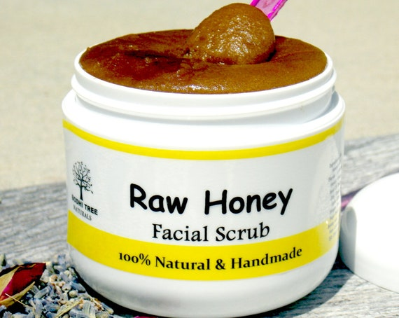 PH Balance/ACNE, OILY & Dry Skin AntiBacterial Facial scrub with True Raw Honey /Cleanser/Exfoliator/ Natural Handmade SkinCare
