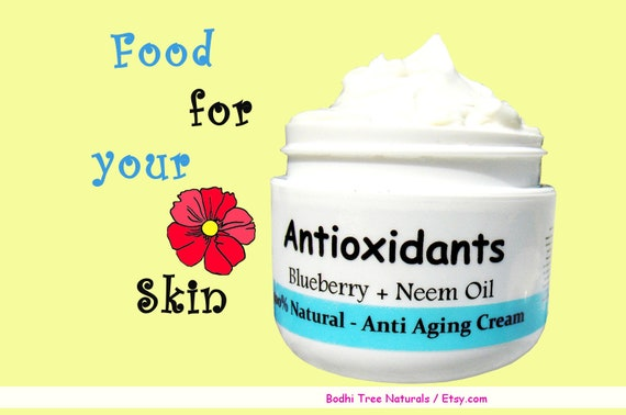 Antioxidant Boost/Anti Aging Cream with Raw honey, Resveratrol, Neem oil, Burdock root and more - Vitamin A, C, E /Natural Handmade SkinCare