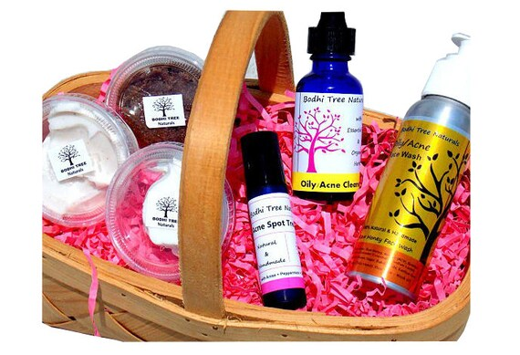 ACNE Sampler kit - 6piece/Handmade/Acne kit - Acne system  - Problem Prone kit - Clear skin System / Natural SkinCare