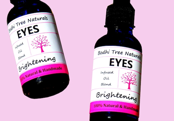 Eye Brightening Serum with Organic Herbs & Natural Oils /Oil Blend / Eye Serum / Eye oil - 100% Vegan - Natural Handmade Skin Care