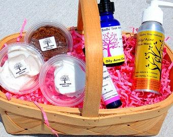 Acne Sampler kit/Handmade/Acne kit - Acne system  - Problem Prone kit - Clear skin System - 6 piece sampler Kit/ Natural SkinCare
