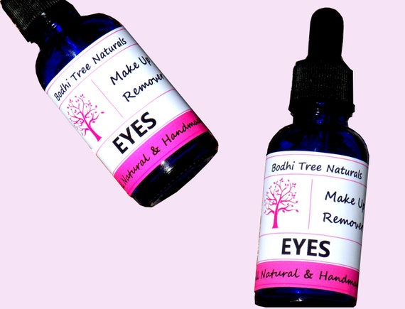 Eye Make up Remover with Organic Herbs & Natural Oils + Aloe Vera /Vegan/ Natural Oil Blend / Eye Serum - Natural Handmade Skin Care