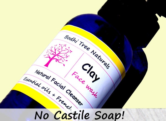 ACNE/OILY -  Vitamin C + CLAY Cleanser Natural Face Wash - No Castile Soap - with Licorice Root /Natural Handmade Skin Care