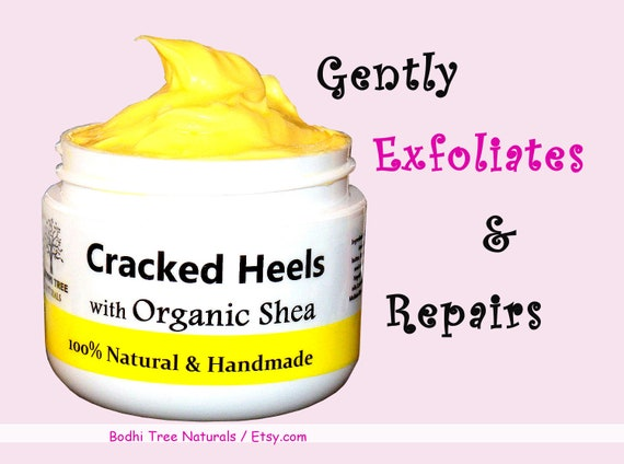 Cracked heel Butter - Natural & Handmade SkinCare with Organic Unrefined Shea Butter/Foot Cream - Hydrating Feet moisturizer/Dry skin cream