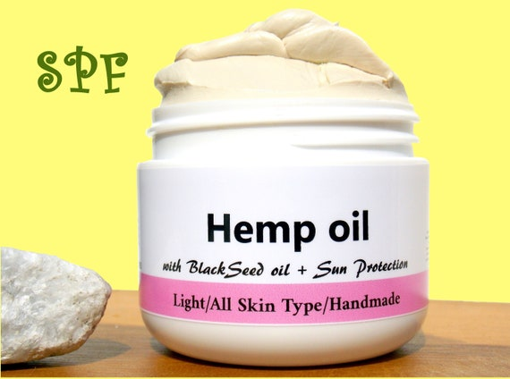 SPF/Hemp Oil/Natural & Handmade Anti Aging cream with Sun Protection/Zink Oxide /Face moisturizer /Vegan/ Skin Care Product