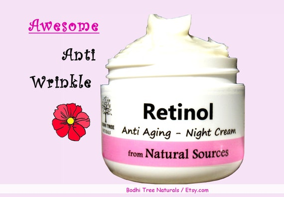 Retinol Night cream / Anti Aging / Retinol from Natural Sources / Self Care / Handmade SkinCare