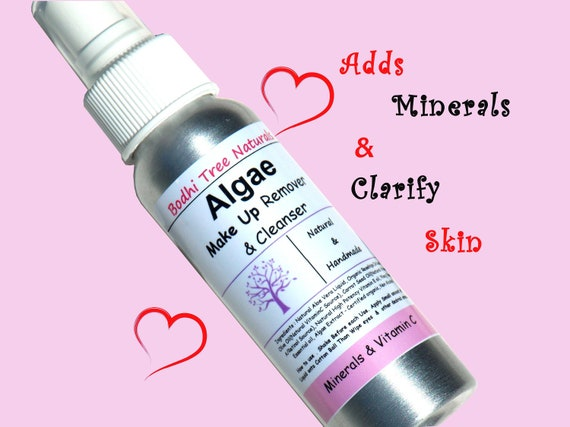 Mineral rich Make up Remover Liquid with Aloe Vera + Algae + VitaminC - natural handmade skin care
