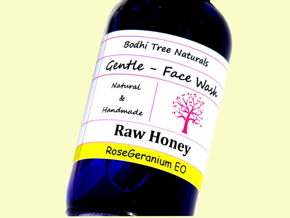 PH Balance Natural & Gentle Face Wash / Raw honey Cleanser  with Baking Soda + Apple Cider Vinegar/All Skin Type/Natural Handmade Skin Care