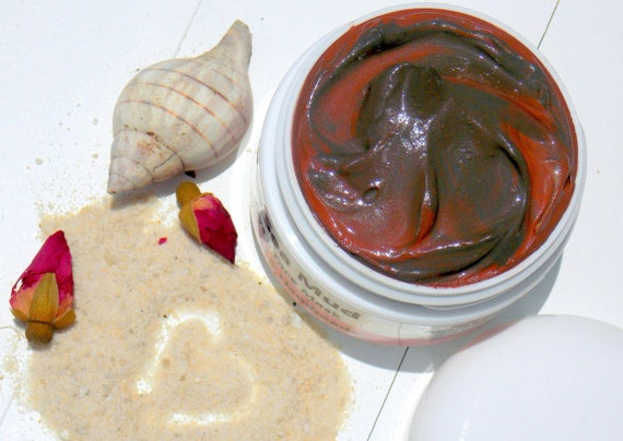 Detox - Dead Sea Mud/ Natural Cleanser/Mask with Rose Clay & Chamomile Essential oil - Handmade Natural Skin Care