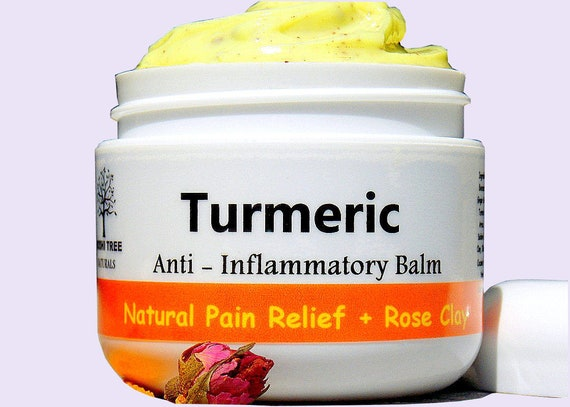 Pain Relief Balm - Turmeric - Anti Inflammatory Moisturizing Balm with Rose Clay - Natural Handmade skin Care