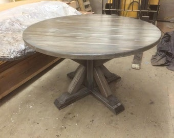 Ash Round Trestle Table