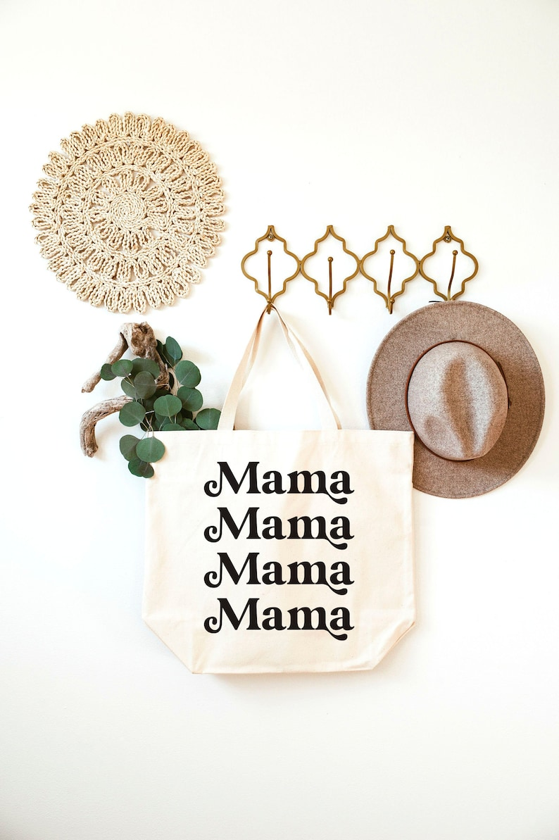 Mama Bags For Moms Diaper Bag Totes Mama Tote Bag Canvas Tote Bags Mom Bag Mother/'s Day Gifts Diaper Bag Tote New Mom Gifts
