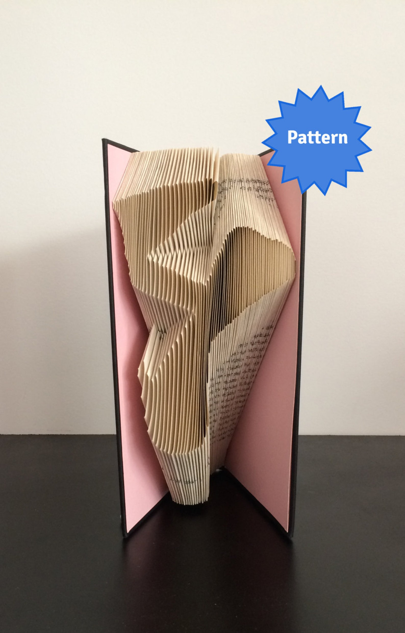 book folding pattern - ballet shoe + free instructions