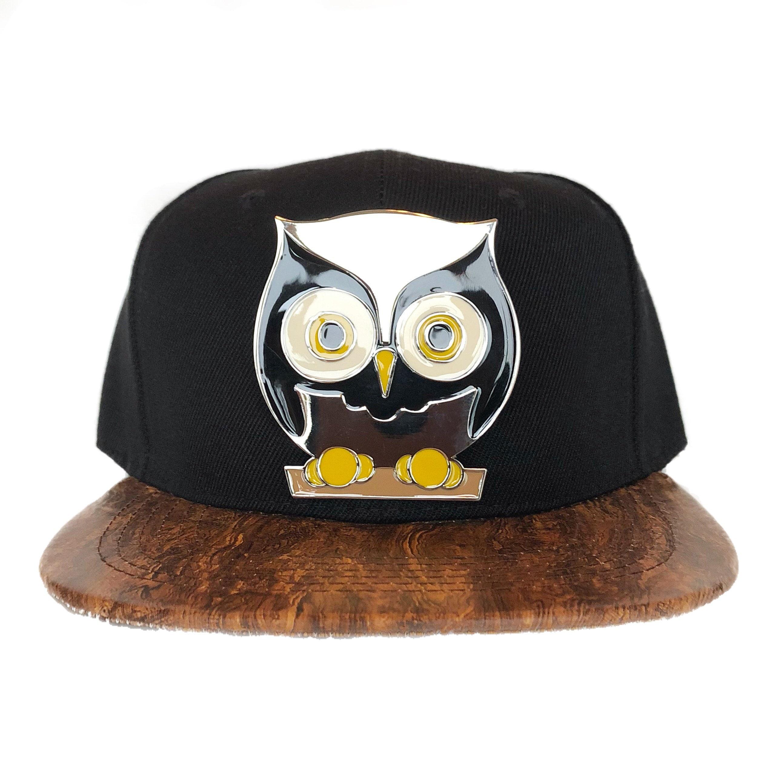 b464b4e6ac4 3D Metal Owl Snapback Bird Cap