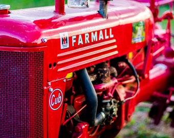 Farmall Tractor, Red Tractor, Tractor Photo, Digital Download, Tractor Art, Tractor Decor, Farmhouse Decor, Antique Tractor, Tractor Print