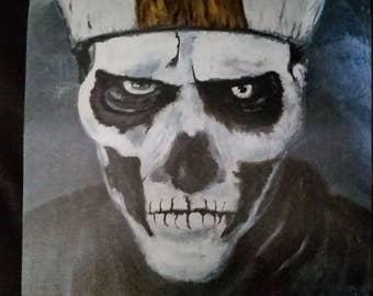 Papa Emeritus of the band Ghost art print